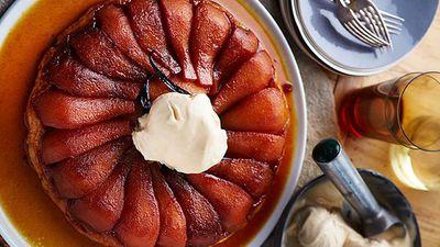 "Recipe: <a href=""http://kitchen.nine.com.au/2016/05/05/14/33/pear-tarte-tatin-with-cinnamon-ice-cream"" target=""_top"">Pear tarte tatin with cinnamon ice cream</a>"