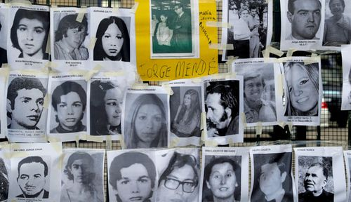 Photos showing some of the victims of Argentina's bloody military-backed purge. (Photo: AP)