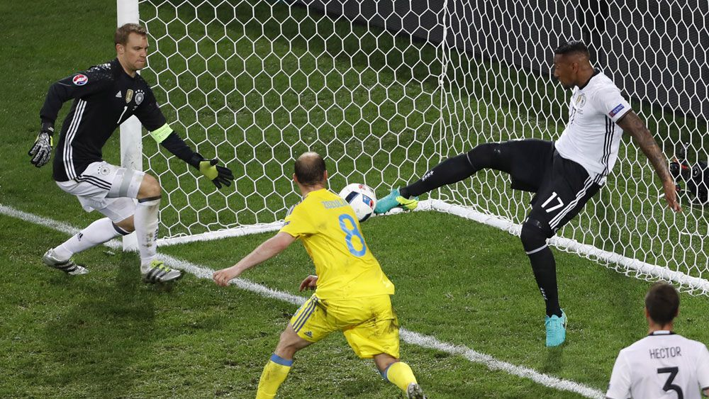 Euro 2016: German defender Jerome Boateng pulls off save of the tournament