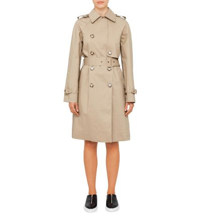 "Stella McCartney trench coat, $3249 at <a href=""http://shop.davidjones.com.au/djs/ProductDisplay?catalogId=10051&productId=12194564&langId=-1&storeId=10051"" target=""_blank"">David Jones<br /> </a>"