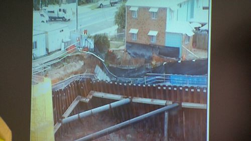There are fears dozens of buildings could also be dragged down. (9NEWS)