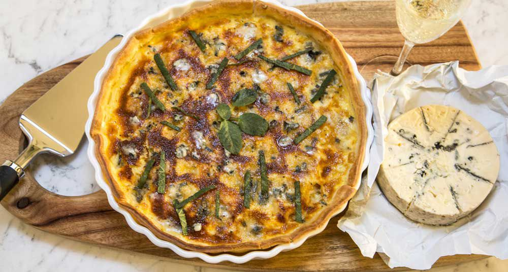 Pumpkin Gorgonzola tart