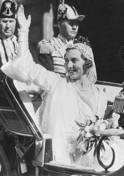 Princess Ingrid of Sweden, married 1935