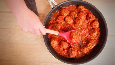 Meatballs in red sauce always capture the imagination and appetite