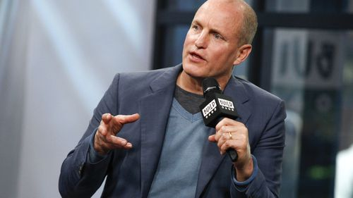 """Woody Harrelson participates in the BUILD Speaker Series to discuss the film """"LBJ"""" at AOL Studios on Tuesday, Oct. 17, 2017, in New York."""