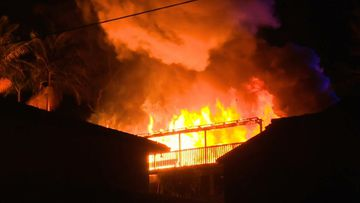 A house has burned down in Sydney's Frenchs Forest.