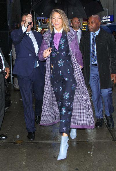 Blake Lively wearing Gucci, New York, September 10, 2018