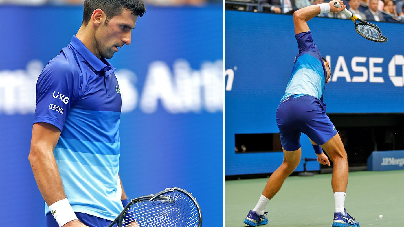 Djokovic lost his cool in the second set
