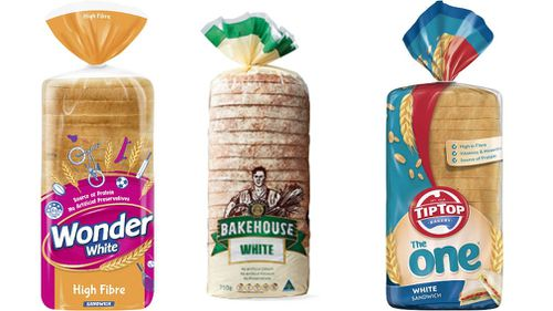 Wonder White, Aldi, and Tip Top are among the top-ranked wholemeal breads. (Supplied)