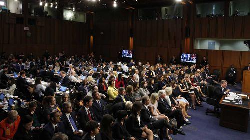 Supreme Court nominee Brett Kavanaugh testifies before the Senate.