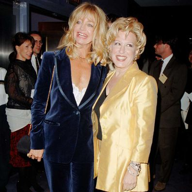 Goldie Hawn and Bette Midler in 1996.