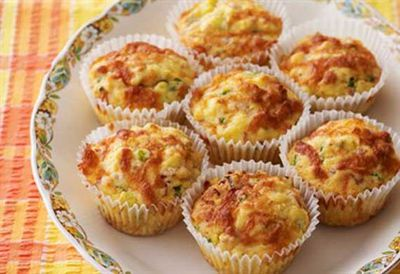 Polenta, pancetta and cheese muffins