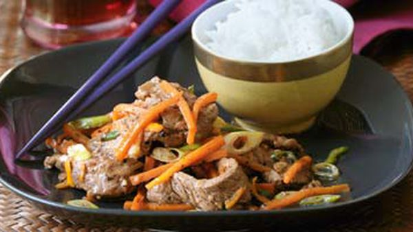 Beef with orange & ginger