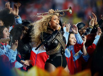 <p>The main act is supposedly Coldplay, but once Beyonce joined the halftime line-up Chris and co. basically became the back-up band. Ever the show woman, Bey knows a great costume is as high-impact as a synchronised dance number, stealing the spotlight in a  leotard and leather military detailing that evoked the original King of Pop, Michael Jackson.</p><p>Click through to see the other performers who've overshadowed the game with their sartorial prowess.</p>
