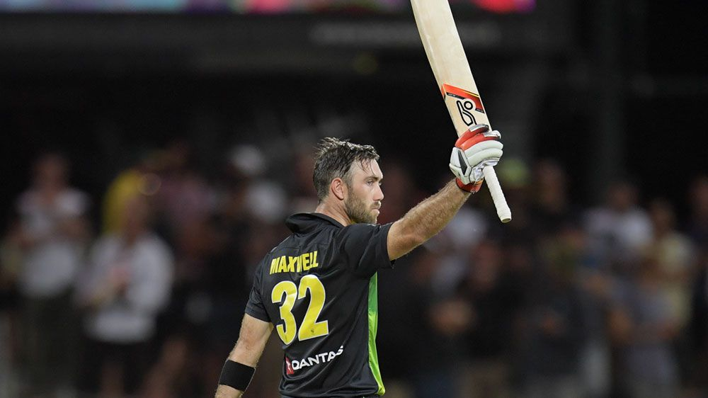Maxwell century leads Australia to T20 victory over England