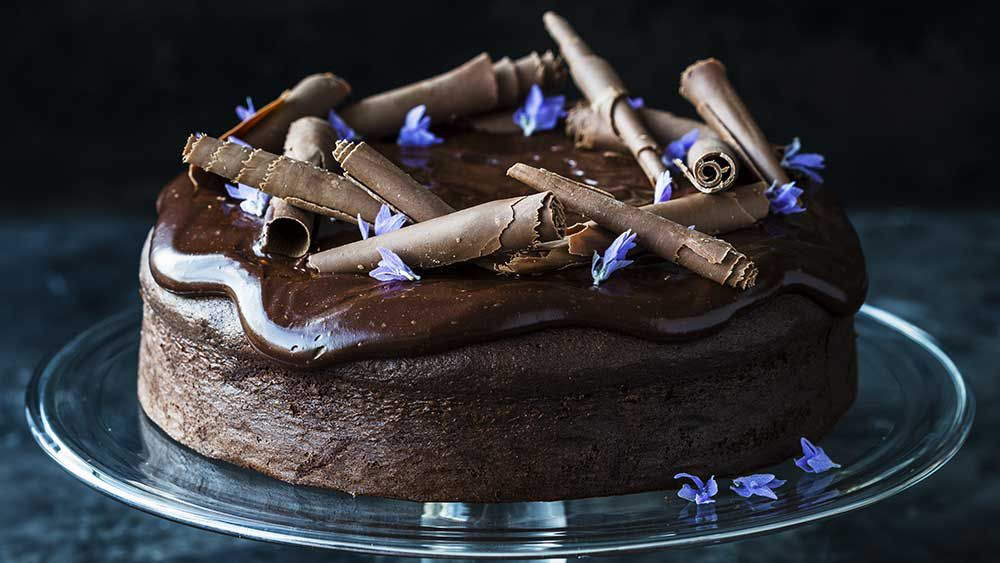 Kirsten Tibballs' decadant chocolate cake
