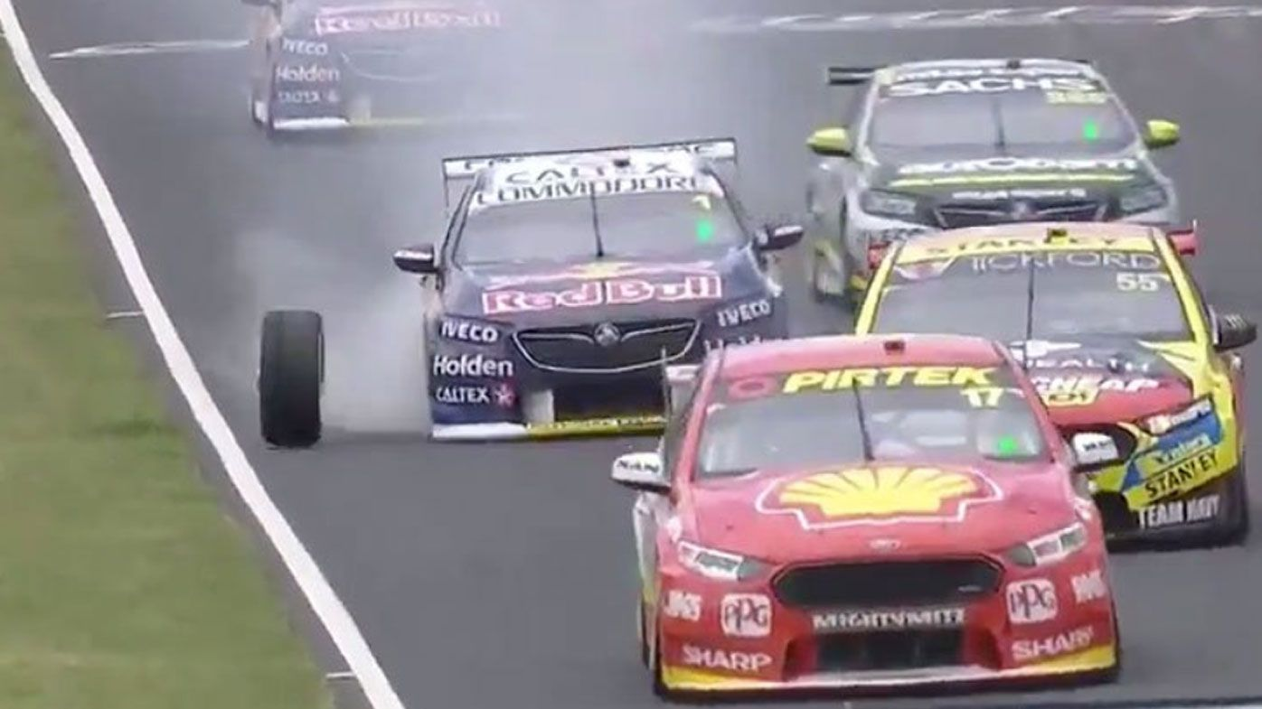 Whincup's poor luck continues at Bathurst after errant wheel comes flying off