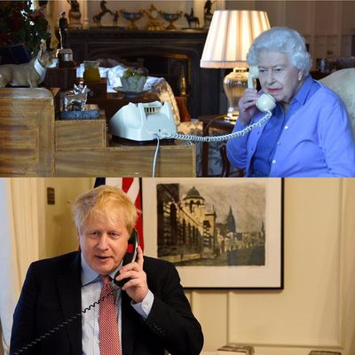 The Queen and Boris Johnson