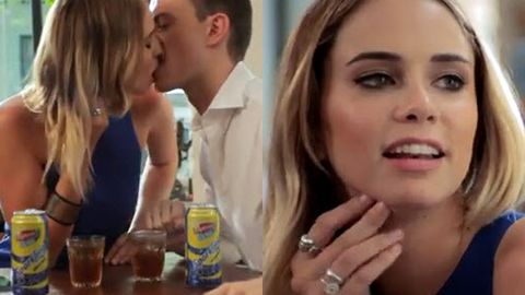 Watch: Big Brother's Tully has super-awkward Tinder date... with one sloppy pash!