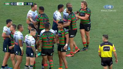 Burgess powers Souths to romp over Raiders