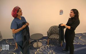 Fashion mainstay switches to making scrubs for hospital workers