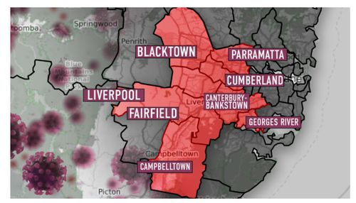 The high risk local government areas in Sydney have been extended.