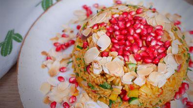 Easy pressed rice salad bowl