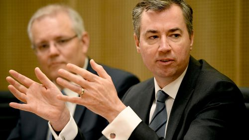 Michael Keenan and Prime Minister Scott Morrison.