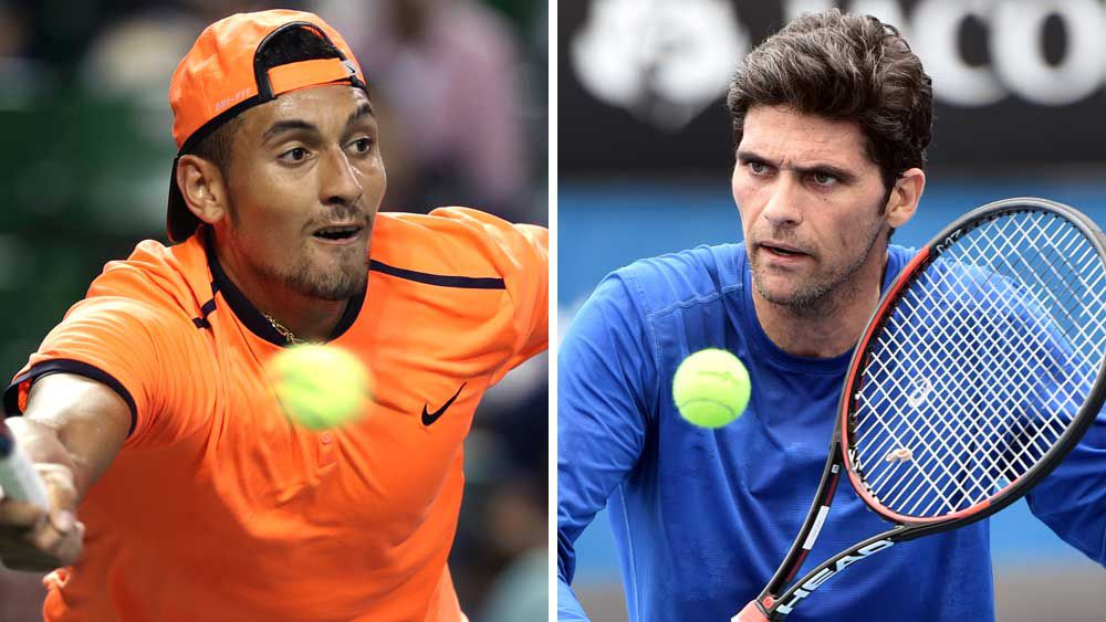Nick Kyrgios and Mark Philippoussis. (AAP)