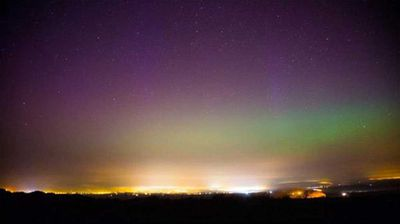 The most common aurora colours are red and green, while blue and purple hues are more rare. (Twitter)