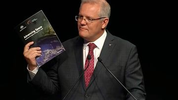 Prime Minister Scott Morrison official opens Australia's space agency in South Australia.