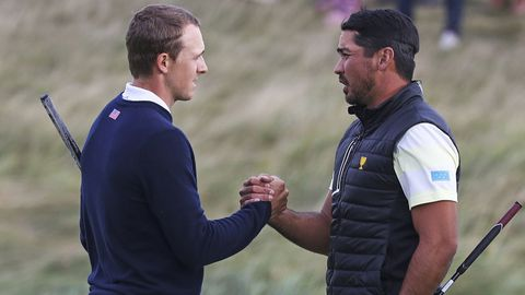 Jordan Spieth (left) and Jason Day,