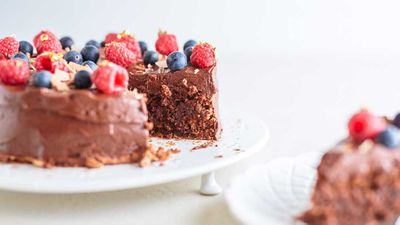 Chocolate coconut torte
