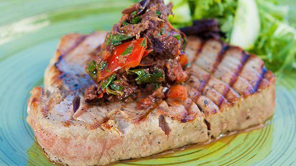 Zoe Bingley-Pullin's grilled tuna with tapenade
