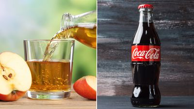 <strong>One cup of apple juice or one cup of Coca-Cola?</strong>