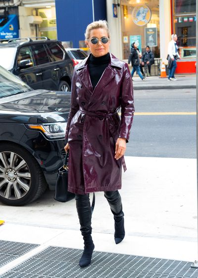 Yolanda Hadid in New York City, February 2018