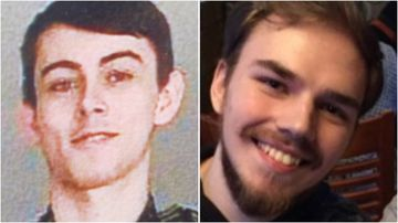 Bryer Schmegelsky (L) and Kam McLeod (R) were reported missing after their camper van was found burnt out and their families lost contact with them.
