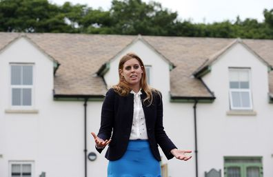 Princess Beatrice during her visit to the Forget Me Not Children Hospice in Huddersfield.