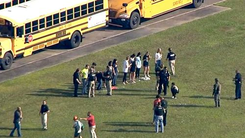 Students leave Texas school after reports of shooting. (KTRK)
