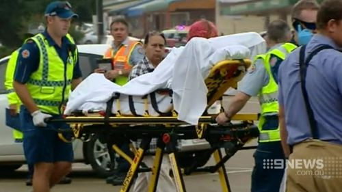 Some of the injured suffered burns to much of their upper bodies. (9NEWS)