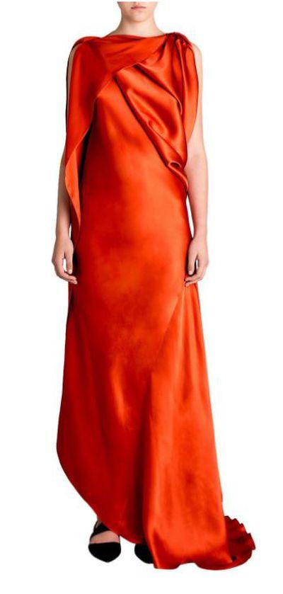 "<a href=""http://shop.davidjones.com.au/djs/en/davidjones/coral-silk-satin-origami-gown"" target=""_blank"">Bianca Spender Coral Silk Origami Gown, $945.</a>"