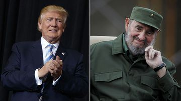 Donald Trump promises to boost freedom and prosperity in Cuba following Fidel Castro's death. (AAP)