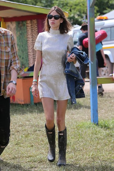 <p>Whatever you think about festival fashion, it sure is consistent. No matter what's trending in the fashion world, you are guaranteed to spot a celeb in gumboots, a model in denim shorts and Daisy Lowe in a jumpsuit. This year's Glastonbury music festival has everything we have grown to love.</p>