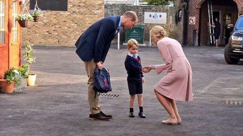 Prince George is understood to have not been at the school at the time.