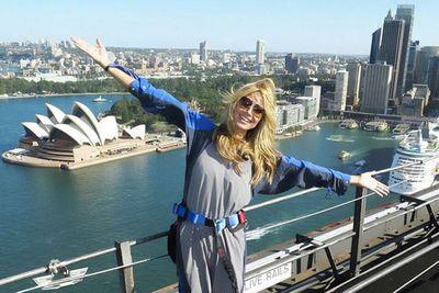 "@heidiklum: ""Worth the climb to see one of the most beautiful cities in the world from the top ! @HeidiKlumIntimates @bridgeclimb #Sydney"""