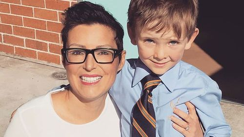 Louise with her son Noah.