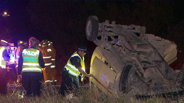 Driver fighting for his life after collision with road train