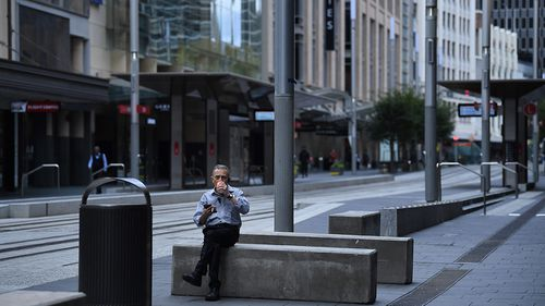 Australia's CBD's are almost deserted at the moment as staff work from home.