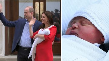 Kate walks from hospital just SEVEN hours after giving birth