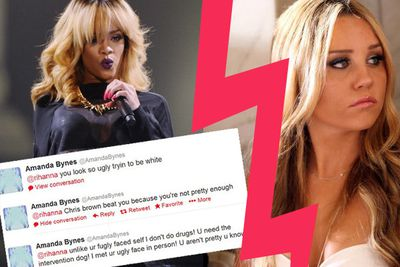 Amanda now claims these tweets to Rihanna were fake and she loves her... yeah, ok.